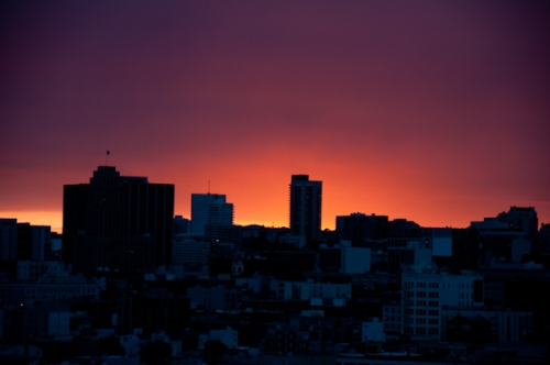A Dramatic Sunset over San Francisco