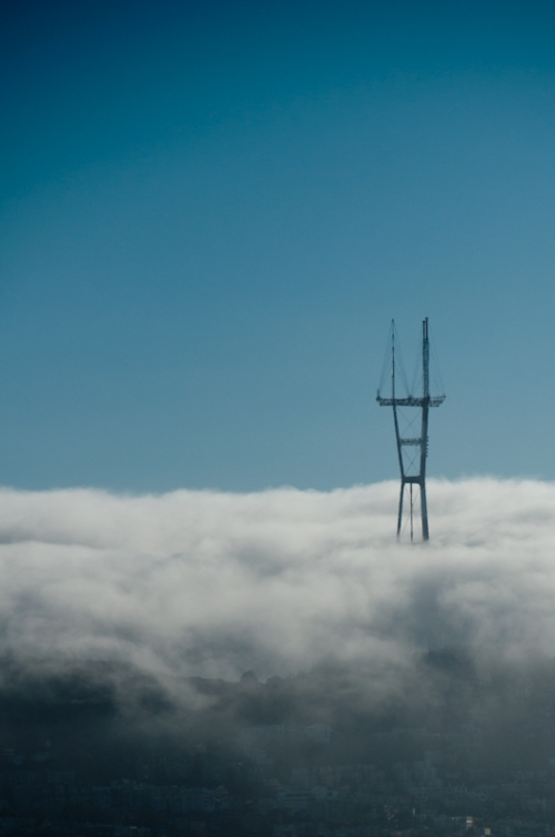 Sutro Tower in the fog