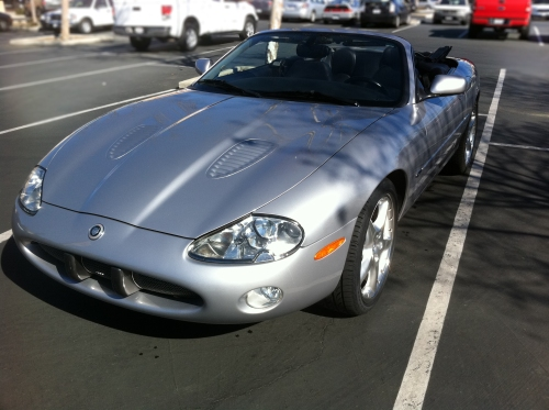 Jag XKR Roof Down
